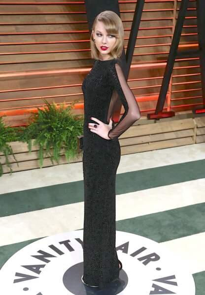 Fatale lors de la soirée Vanity Fair aux Oscars en 2014