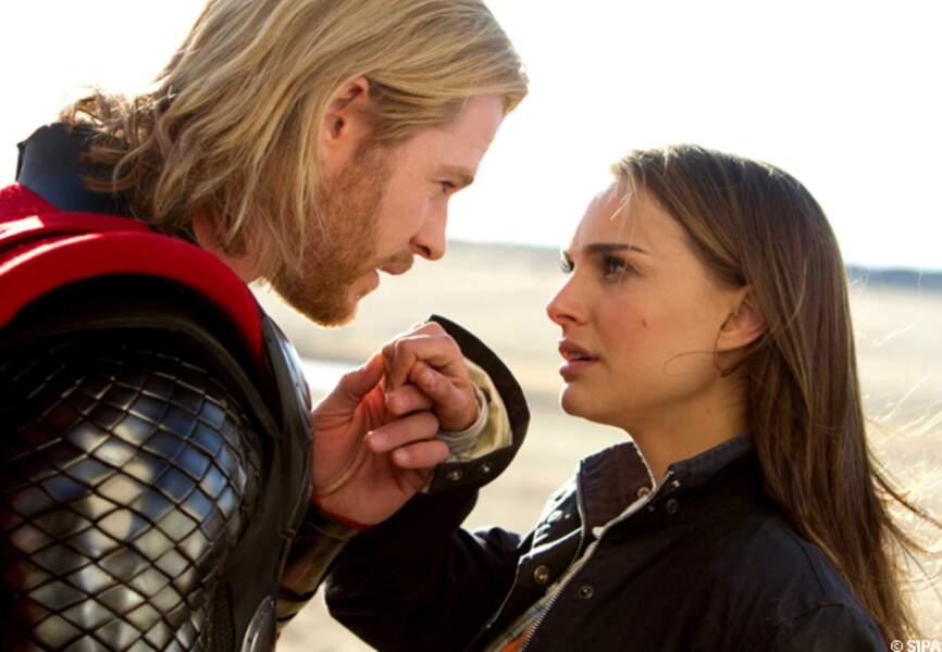 Natalie Portman joue dans le blockbuster Thor