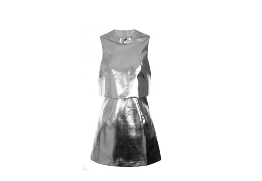 Mini robe courte argentée, Lavish Alice, 63,25€