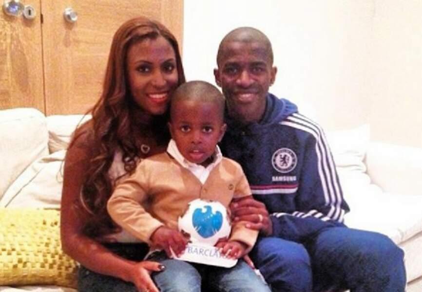 Ramires et sa femme Islana et leur fils Davi (Chelsea)