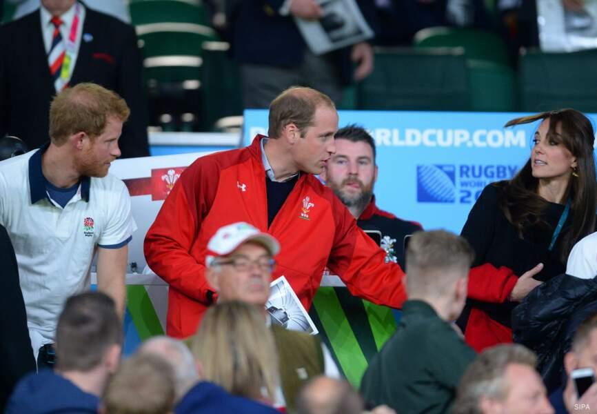 Le couple était accompagné du prince Harry pour l'événement de la Coupe du monde de rugby