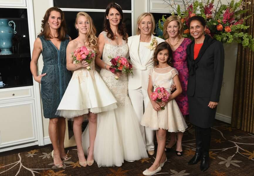 Une photo de mariage très girl power