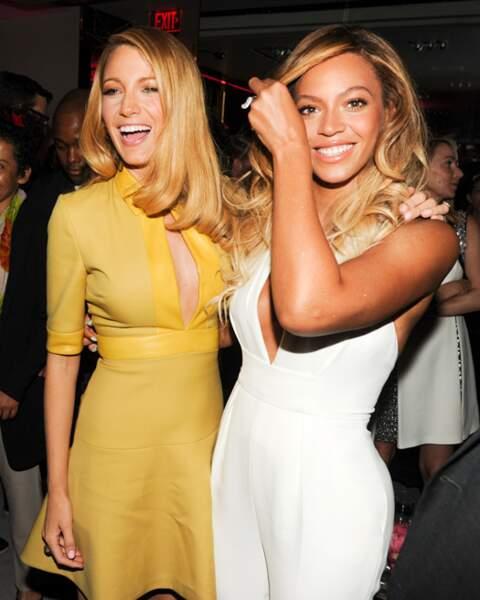 Blake Lively et Beyoncé, complices en Gucci
