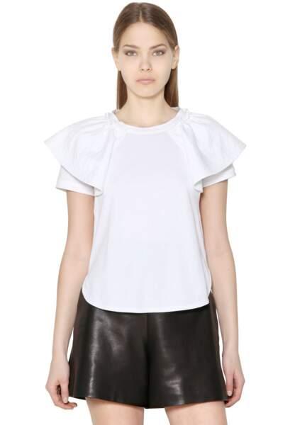 Chloé, haut plissé en jersey de coton, 360€