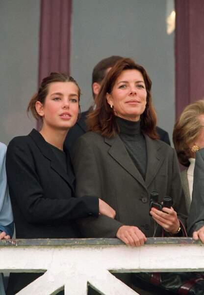 Lors d'une compétition de cheval à Fontainebleau en octobre 2000