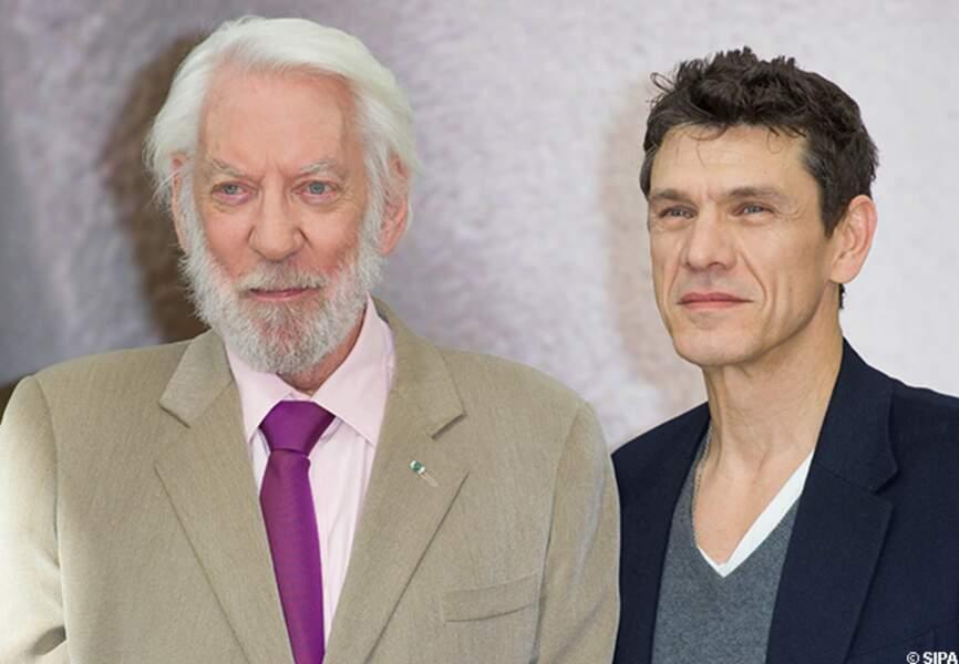 Donald Sutherland et son partenaire de Crossing Lines Marc Lavoine