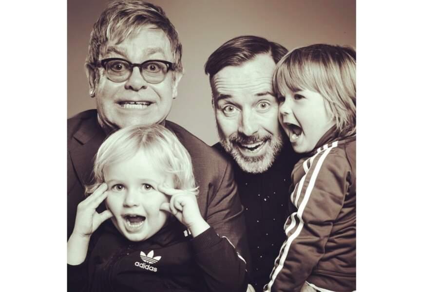 Cette année Elijah le second enfant de Elton John et David Furnish a eu 2 ans en janvier