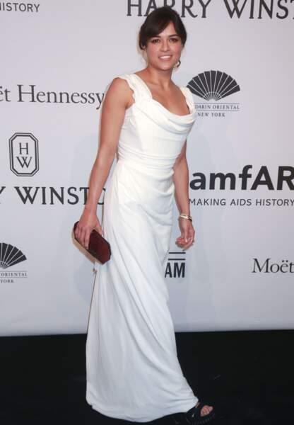 Michelle Rodriguez en Vivienne Westwood