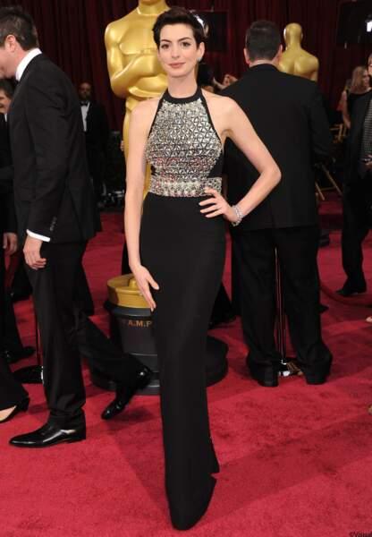 Anne Hathaway, en Gucci