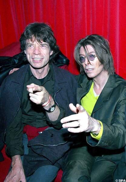Mick Jagger retrouve son complice David Bowie