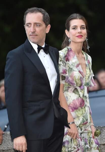 Charlotte et Gad Elmaleh au mariage de Pierre Casiraghi et Béatrice Borroméo