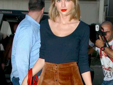 Claudia Schiffer, Taylor Swift, toutes fans de la jupe boutonnée