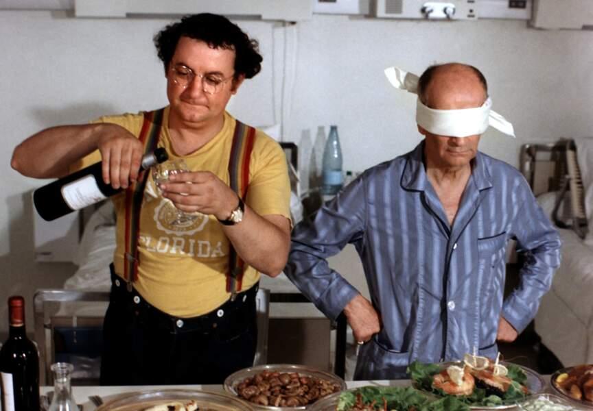 L'Aile ou la Cuisse? de Claude Zidi (1976). Avec Coluche