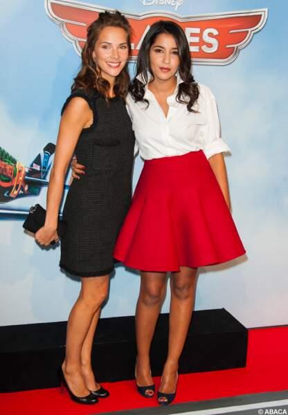 Avec Mélissa Theuriau lors de l'avant-première de Planes en 2013