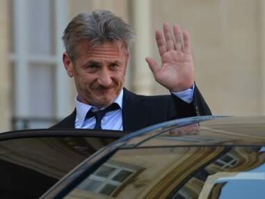 François Hollande reçoit Sean Penn à l'Elysée le 19 février 2015