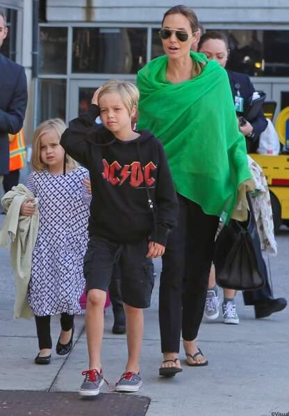 Angelina, Vivianne et Shiloh