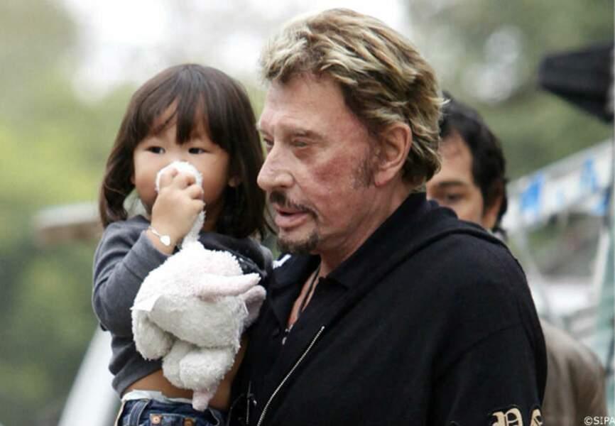 Avec sa fille Jade aux Etats-Unis