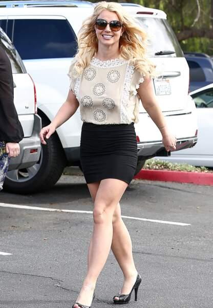 La femme Athlétique comme Demi Moore, Britney Spears...