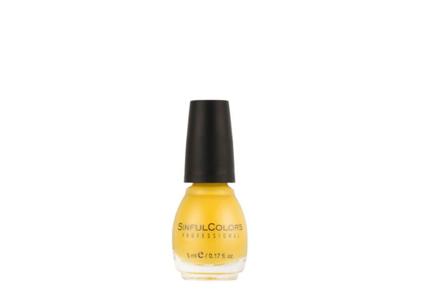 Jaune fluo, Sinful Colors, 3,50€