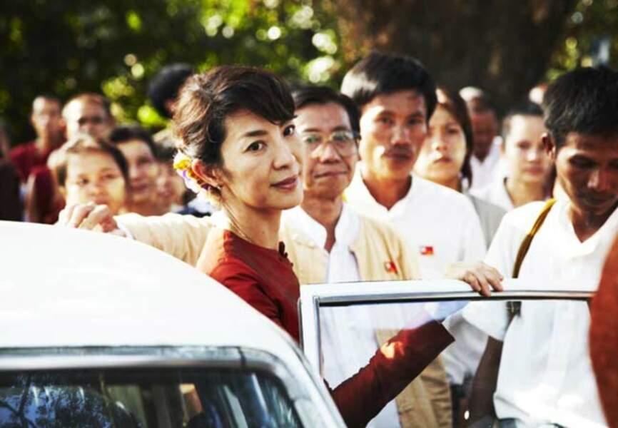 Michelle Yeoh en Aung San Suu Kyi (The Lady de Luc Besson, 2011)