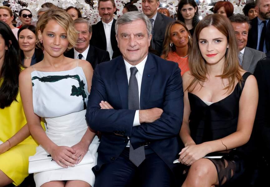 Instantané aux premiers rangs du défilé Dior aux côtés de Sidney Toledano