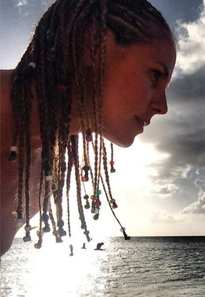Heidi Klum montre ses dreadlocks