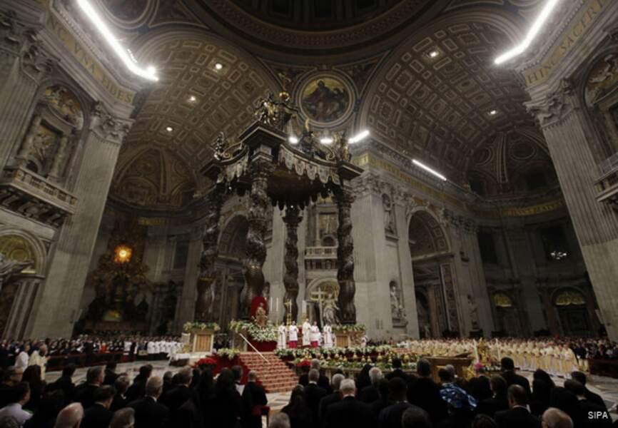 La basilique St-Pierre pour la messe de Noël