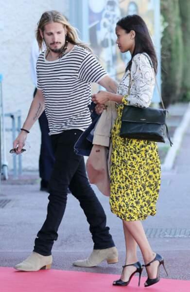 Zoe Saldana à Cannes avec son mari Marci Perego