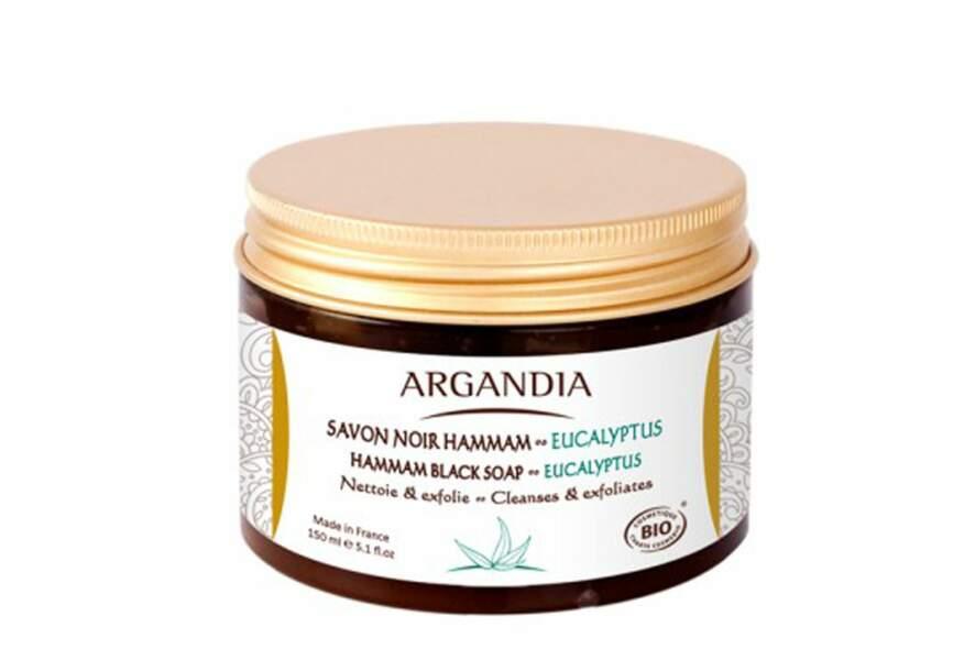 Argandia, Savon noir Hammam Eucalyptus, 11,95€