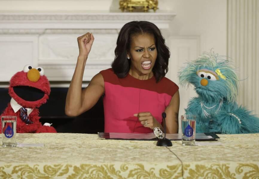 Michelle Obama affiche son combat pour une alimentation saine
