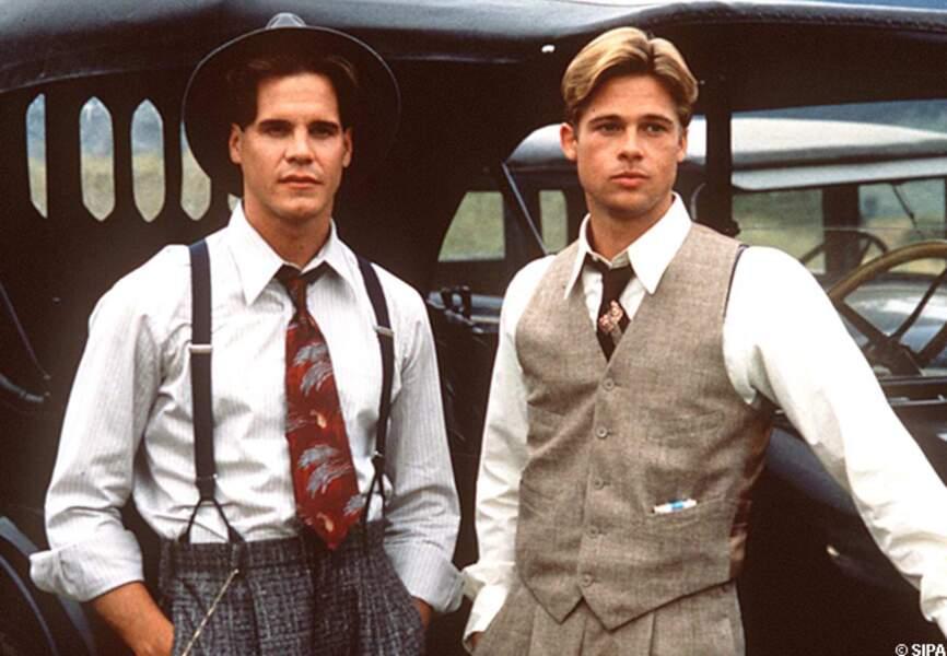 Brad Pitt et Craig Sheffer dans Et au milieu coule une rivière, en 1993