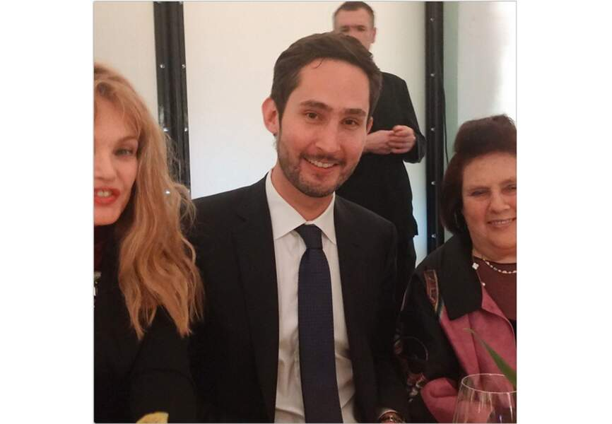 Arielle Dombasle, Kevin Systrom et Suzy Menkes