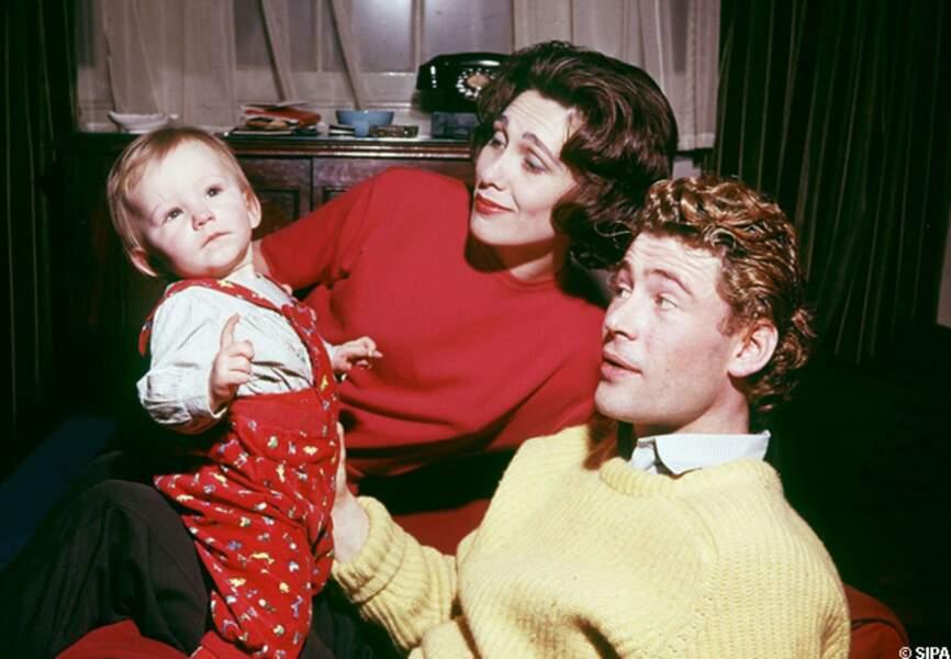 Peter O'Toole sa femme et leur fille en 1964