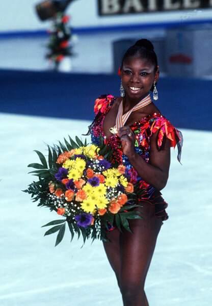 Surya Bonaly championne d'Europe à Dortmund en 1995