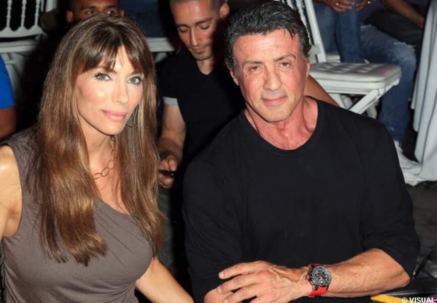 Sylvester Stallone et sa femme