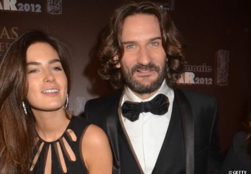 Frédéric Beigbeder et Lara lors de l'after party des César 2012