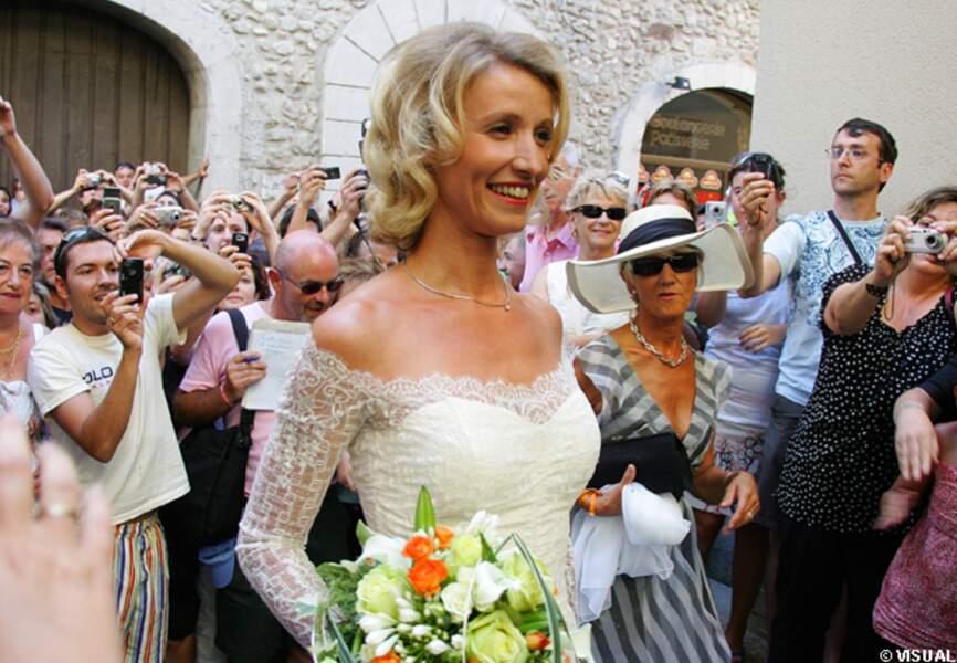 Alexandra Lamy se marie, en 2009