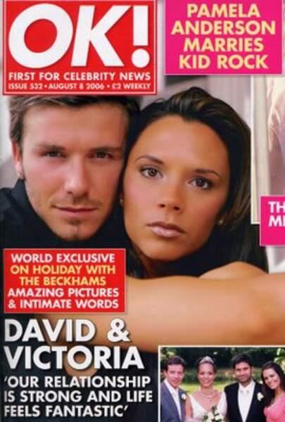 David et Victoria Beckham pour OK Magazine en 2006