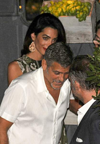 George Clooney et sa femme Armal Alamuddin en Italie