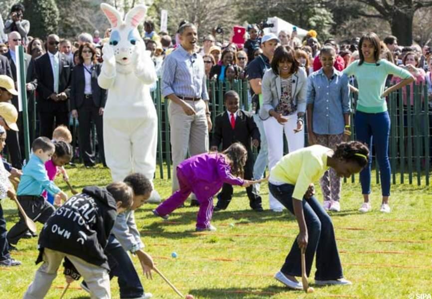 La course aux oeufs une institution de la Maison-Blanche