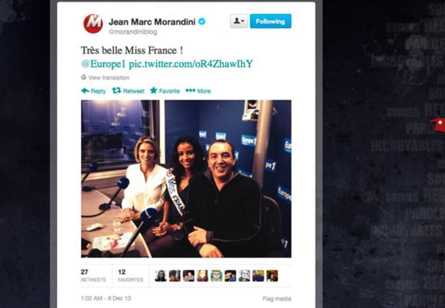 Jean-Marc Morandini sous le charme de Miss France 2014