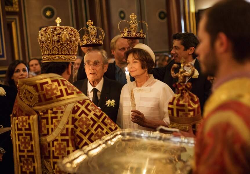 À l'église orthodoxe de la rue Daru, à Paris, les mariés ont été unis religieusement par un pope