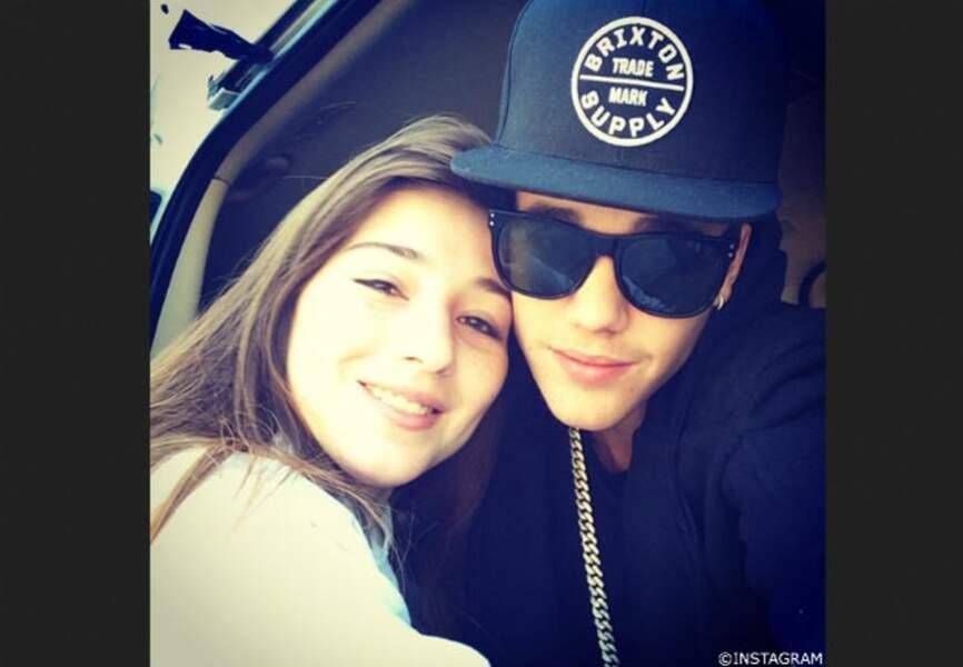 Justin Bieber, le seflie avec sa meilleure fan
