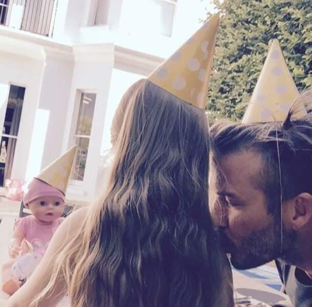 Pour le quatrième anniversaire d'Harper, David Beckham est le premier invité