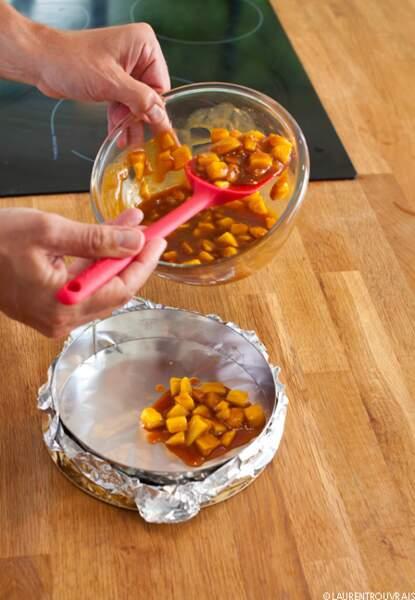Etape 4: Placez les mangues caramélisées au congélateur