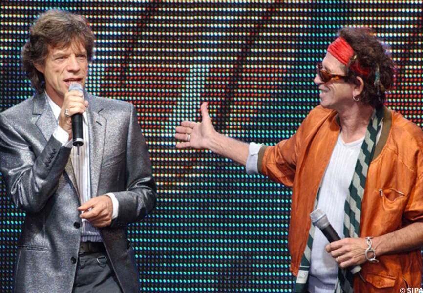 Mick Jagger et Keith Richards, vieux complices