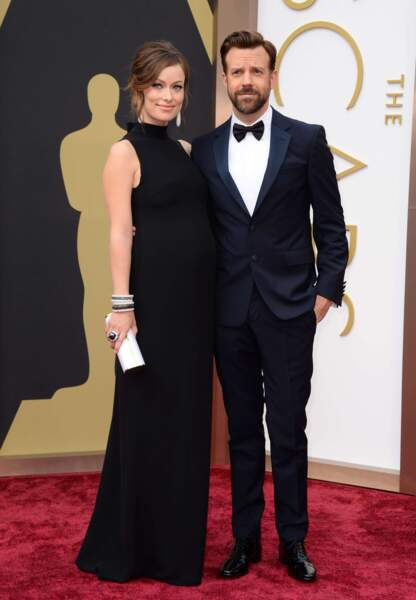 Olivia Wilde enceinte, aux côtés de son compagnon, le comédien Jason Sudeikis