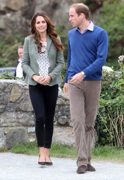 Kate et William arrive au départ du marathon