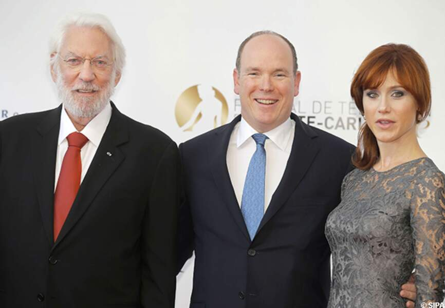 Donald Sutherland, le prince Albert et Gabriella Pession