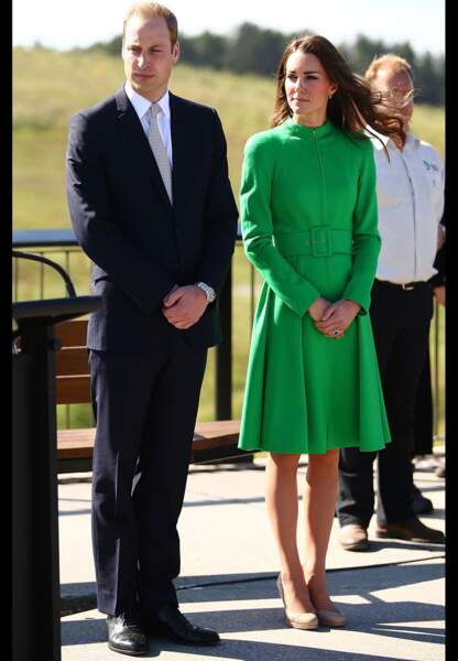 Le manteau vert Catherine Walker de la duchesse de Cambridge